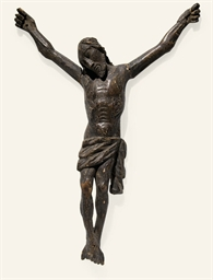 FIGURE DE CHRIST EN BOIS SCULP