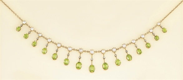An Edwardian diamond, peridot
