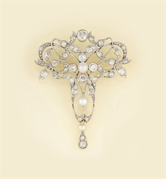 A French Art Nouveau diamond a