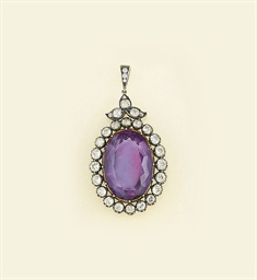 A Victorian amethyst and diamo