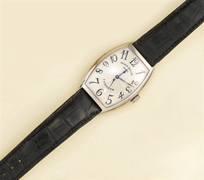 An 18ct. white gold wristwatch