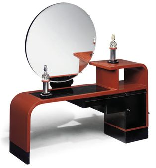 art deco dressing table twin