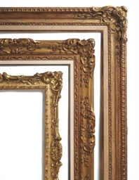 THREE GILTWOOD PICTURE FRAMES