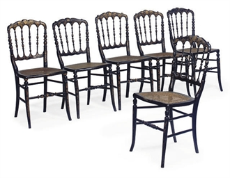 A SET OF SIX FRENCH SIDE CHAIR