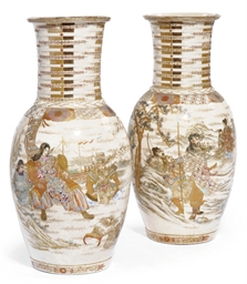 A PAIR OF FINELY PAINTED JAPAN