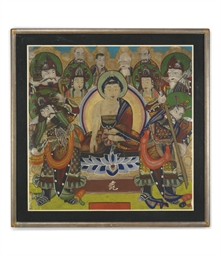 A CHINESE BUDDHISTIC PAINTING