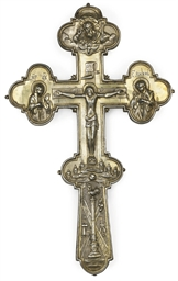 A SILVER-GILT BENEDICTION CROS
