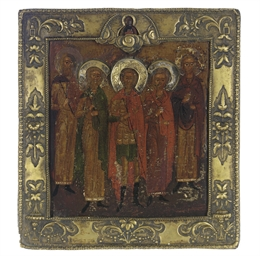 A GROUP OF FIVE SAINTS WITH CH