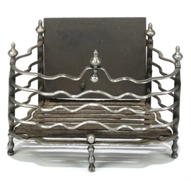 A DUTCH WROUGHT-IRON FIREGRATE