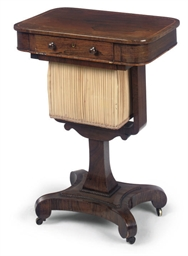 A REGENCY ROSEWOOD WORKTABLE