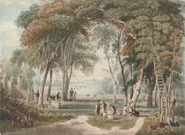Chestnut gathering near Richmond Bridge