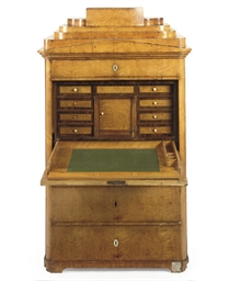 A GERMAN BIEDERMEIER SATINBIRC