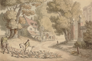 The Meet of a Hunt at the Fox