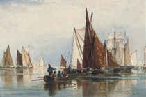 The fishing fleet in a calm