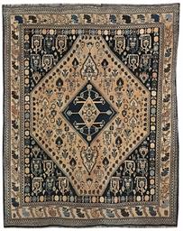 A Qashqai rug & Yomut Hatchly