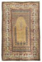 A fine Ghiordes prayer rug