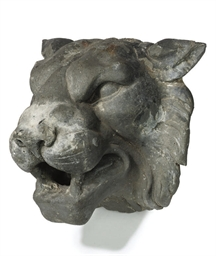 A LEAD FOUNTAIN MASK