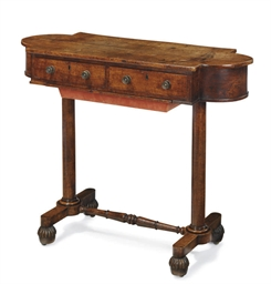 A GEORGE IV OAK WORK-TABLE