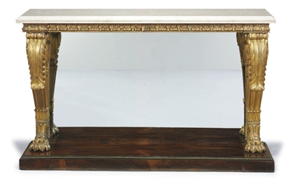 A GEORGE IV ROSEWOOD, GILTWOOD
