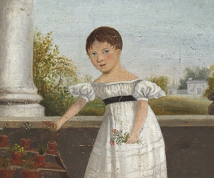 Portrait of a girl, standing b
