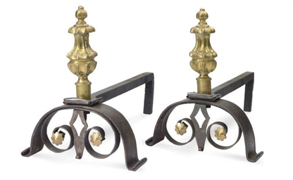 A PAIR OF MID-VICTORIAN BRASS