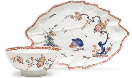 A BOW KAKIEMON WASTE-BOWL AND