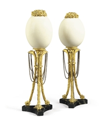 A PAIR OF FRENCH ORMOLU AND OS