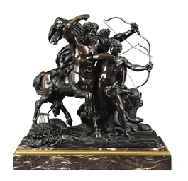 A BRONZE GROUP OF THE CENTAUR