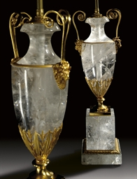 A PAIR OF ORMOLU-MOUNTED ROCK