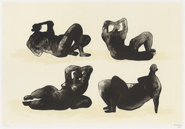 Four Reclining Figures (Cramer