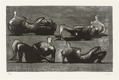 Four Reclining Figures with Ar