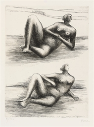 Two Reclining Figures, from Re