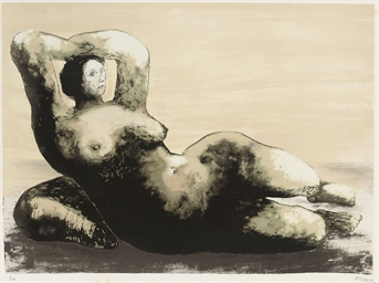 Reclining Woman on Sea Shore (