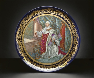 A SEVRES STYLE COBALT-BLUE GRO