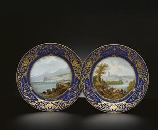A PAIR OF SEVRES TOPOGRAPHICAL