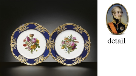 TWO SEVRES ROYAL (LOUIS PHILIP
