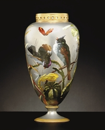 A PARIS PLATINUM-GROUND VASE