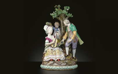 A MEISSEN 'UNDER THE TREE' PAS