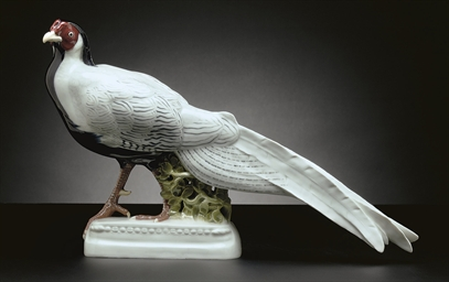 A MEISSEN MODEL OF A PHEASANT