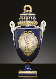 A MEISSEN COBALT-BLUE GROUND P