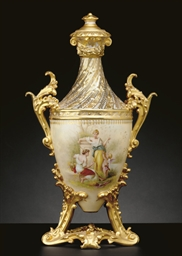 A VIENNA STYLE IVORY AND GOLD