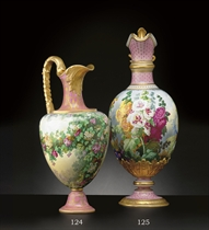 A COPELAND PINK-GROUND EWER