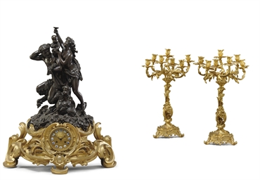 AN ASSEMBLED FRENCH ORMOLU AND