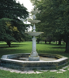 AN ITALIAN MARBLE FOUNTAIN