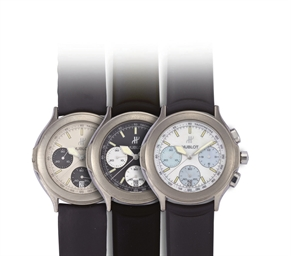 *HUBLOT  SET OF THREE TITANIUM