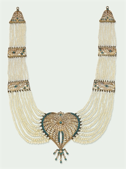 AN INDIAN MULTI-STRAND PEARL AND TURQUOISE NECKLACE | Jewelry Auction | Jewelry, necklace | Christie's :  sale pearl and collectible