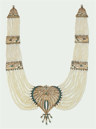 AN INDIAN MULTI-STRAND PEARL A