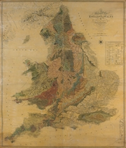 GREENOUGH, George Bellas (1778-1855) A geological map of Eng