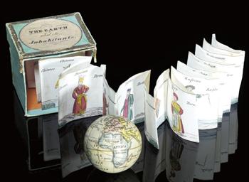 A 1¾-inch miniature globe