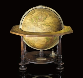 A fine Nuremburg table globe
